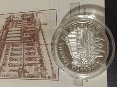 Moneda argint Revolutia Romana 1989 foto