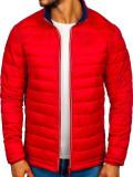 Cumpara ieftin Geacă sport bărbați roșie Bolf LY1017