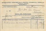 Romania, Soc. Continentală pentru Comerţul Fierului Timişoara, notă de debitare