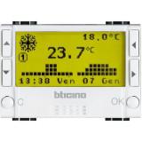 Cronotermostat zilnic saptamanal de ambient electronic Living Light Bticino 3M culoare alb N4451