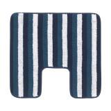 Covor poliester pentru baie, 55 x 60 cm, Albastru/Alb, General