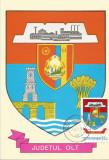 România, LP 942/1977, Stemele judeţelor (E-V), (uzuale), c.p. maximă, Olt
