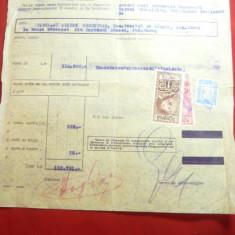 Borderou Antet Banca Comerciala Italiana si Romana 1932- Banca Saseasca timbre f