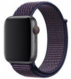 Cumpara ieftin Curea iUni compatibila cu Apple Watch 1/2/3/4/5/6, 38mm, Nylon Sport, Woven Strap, Midnight Purple