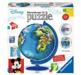 Puzzle 3D Globul Disney, 180 piese, Ravensburger