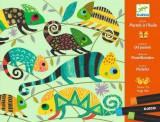 Atelier culori ulei pastel - Jungla - Set creativitate si indemanare
