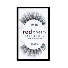 Gene false Red Cherry din par natural tip banda 415