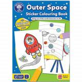Carte de Colorat cu Activitati in Limba Engleza si Abtibilduri In Spatiu, orchard toys