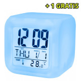 Cumpara ieftin Ceas cu alarma SETTY, temperatura si lumina noapte + 1 GRATIS