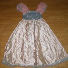costum carnaval serbare rochie barbie printesa pentru copii de 8-9 ani
