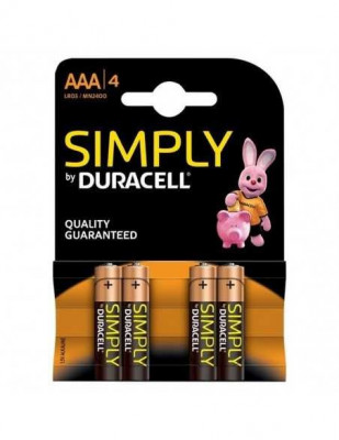 Set 4 baterii AAA R3, Duracell Simply foto