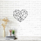 Decoratiune pentru perete, Ocean, metal 100 procente, 47 x 65 cm, 874OCN1022, Negru