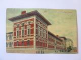 Rara! Carte postală Iași-Liceul Național circulată 1913