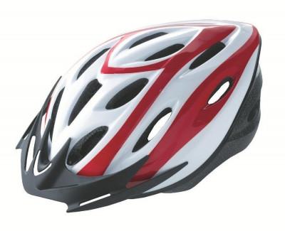 Casca Rider Alb/Rosu Marime M (54-58cm)PB Cod:588402273RM foto