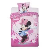 Lenjerie pat si fata perna Minnie Mouse Why Hello! Roz