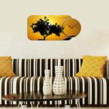 Ceas decorativ de perete (2 Piese) Home Art, 238HMA5113, Multicolor