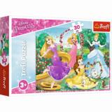 Puzzle Trefl Printese Disney in gradina palatului, 30 piese