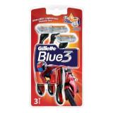 Aparat de ras Gillette Blue 3 Pride pentru barbati De unica folosinta Trei Lame Pachet 3 buc