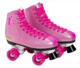 Patine cu rotile pentru fete Saica 6992 Shak marime 35 roz cu sclipici