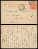 Great Britain 1898 Old Postcard Postal stationery to Belgium DB.154