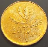 Moneda 20 LIRE- ITALIA, anul 1974 *cod 3587 --- UNC PATINA, Europa