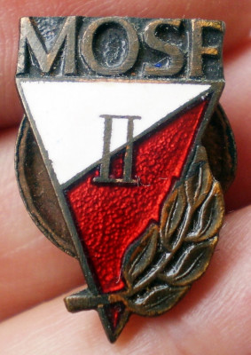 I.026 INSIGNA MILITARA POLONIA MOSF II Milicyjna Odznaka Sprawności Fizycznej foto