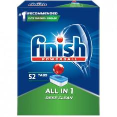 Detergent de vase pentru masina de spalat Finish All in One, 52 tablete
