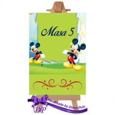 Numere masa pentru botez Mickey Mouse Handmade by Diana Puiu NMBM 5