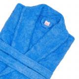 Cumpara ieftin Halat Bianca de baie pentru hotel 100% bumbac culoare albastru marime L/XL