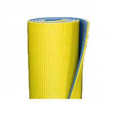 Saltea Izopren Izolir Polifoam 10mm Albastru/Galben + Chingi Compresie