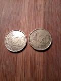 2x 20 eurocent Italia si Spania