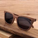 Cumpara ieftin Ochelari de soare din lemn Bobo Bird, lentila neagra