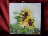Floarea soarelui 3-pictura ulei pe panza