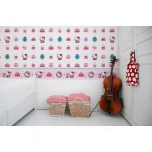 Rola tapet Hello Kitty Fashion Decofun, 10 x 0.52 m
