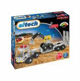 Set constructie - Camion cu remorca si excavator, 375 piese
