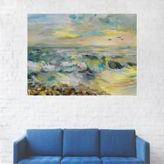 Tablou Canvas, Pictura Artistica, Valurile Marii - 80 x 100 cm