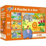 Cumpara ieftin Set 4 puzzle-uri Jungla (12, 16, 20, 24 piese), Galt