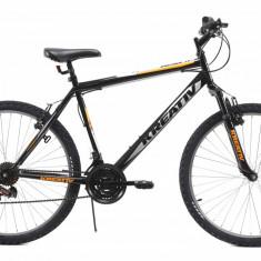 Bicicleta Mtb Kreativ 2603 Negru M 26 inch, V-brake