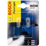 Set 2 becuri W5W, 5W, Bosch