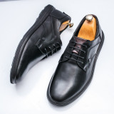 Pantofi barbati casual Piele negri Tolery