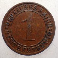 1.444 GERMANIA WEIMAR 1 RENTENPFENNIG 1923 E