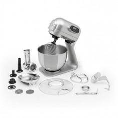 Klarstein Curve Plus, robot de bucătărie, 5 l, mașină de tocat carne 4 în 1, argintiu