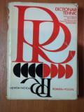 DICTIONAR TEHNIC POLON- ROMAN, ROMAN- POLON, 1976