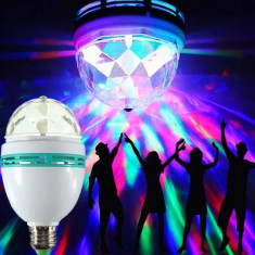 Bec rotativ, iluminat LED RGB, putere 3W, soclu E27, 120 grade