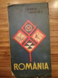 Hartă turistica Romania RSR, comunism, epoca de aur