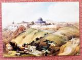 Ierusalim (1839). Dupa o litografie de David Roberts - Necirculata, Israel, Printata