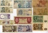 Lot 43 x Bancnote Straine Diferite Tari Continente Africa Europa Asia