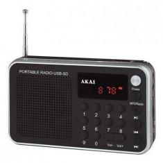 Radio portabil Akai DR002A-521 USB 1.3W Black