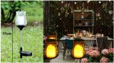 Cumpara ieftin Lampa solara, cu sticla groasa vintage acrilica si lumanare solara, instalatie solara