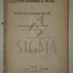 CHARLES C. ARION ( SCARLAT ARION - 1868-1937 ) - LA SITUATION ECONOMIQUE ET SOCIALE DU PAYSAN EN ROUMANIE, 1895